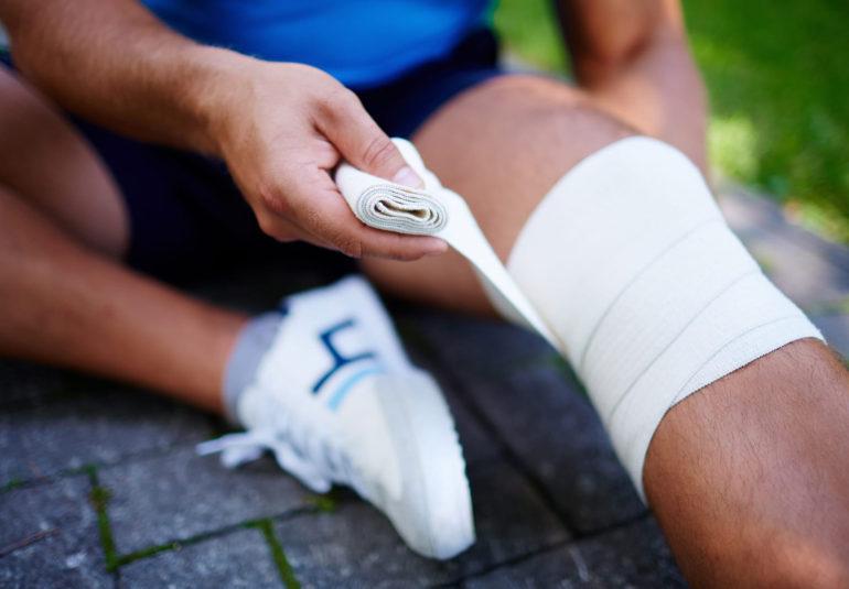 Повреждение связок у спортсменов